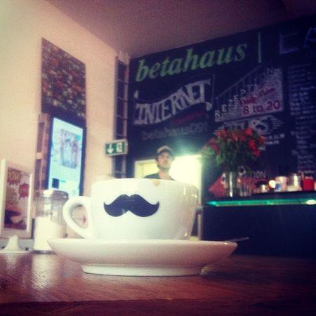 Man in a cup. Betahaus Hieristesauchschön Goodcoffee