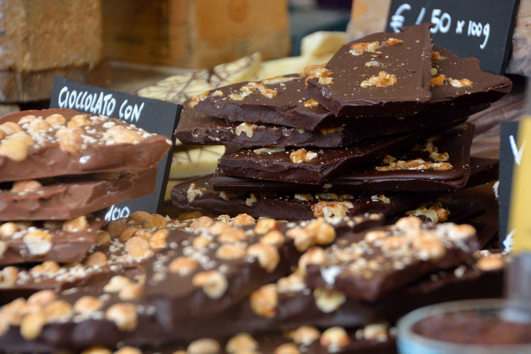 Close-up of chocolate for sale