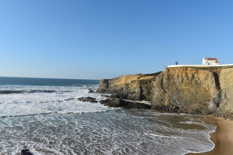 Atlantic House on a Rock Rock - Object House Sky Water Sea Clear Sky Horizon Over Water Nature Copy Space Horizon Day No People Beauty In Nature Built Structure Architecture Scenics - Nature Outdoors Blue