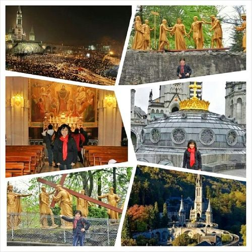 Lourdes has become a major place of Roman Catholic Pilgrimage and miraculous healings ThrowbackWeekend Travel2008 Lourdes france grottoofmassabielle basilicaoftherosary apparition sanctuary houseofbernadette basilicaoftheimmaculateconception