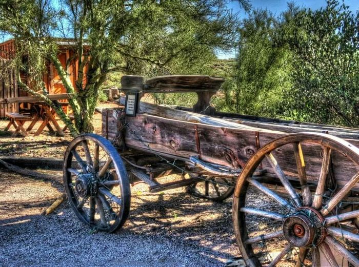 An old west theme. Old Wagon AriZona♡ Desert Beauty Hdr_Collection