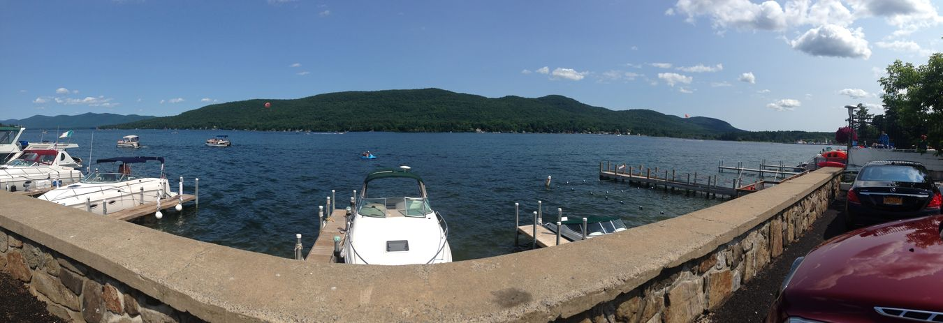 IPhoneography Panorama Lake George NY Outdoors On A Nice Day IPhone Clouds And Sky