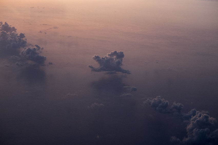 Aerial View Beauty In Nature Cloud - Sky Day Environment High Angle View Idyllic Land Nature No People Non-urban Scene Outdoors Pollution Scenics - Nature Sea Sky Sunset Tranquil Scene Tranquility Water