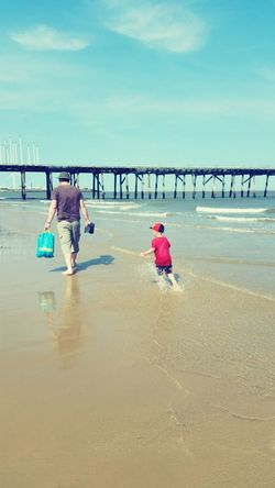 What I Value Family Dad Son Lowestoft Beach Sun Fun Day Out Happy
