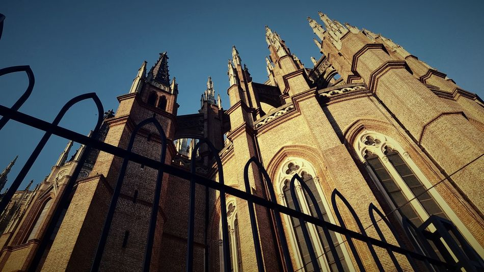 Architecture Tourism Vacations City Sky Cultures No People Low Angle View Sunset Outdoors Day Church Catedral