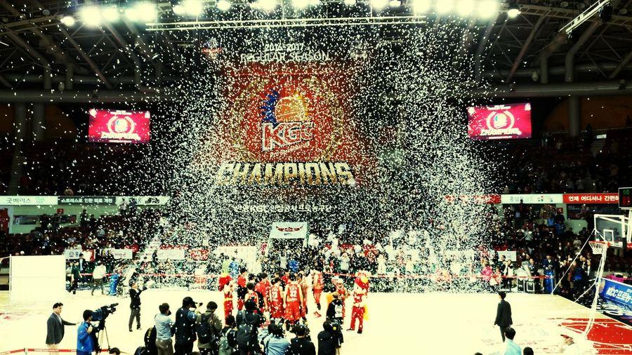 We are the champions! Kbl 안양KGC 정규리그 우승 농구 安養KGC レギュラーシーズン 優勝 バスケ Champions Basketball
