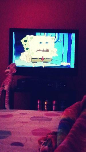 Watching Spongebob