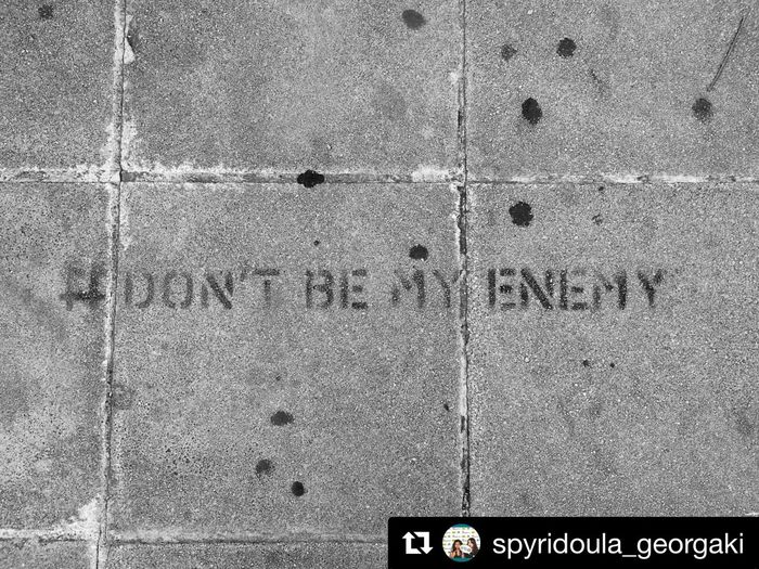 Dontbemyenemy Street Full Frame No People Built Structure Day Textured  Text Wall - Building Feature Pattern
