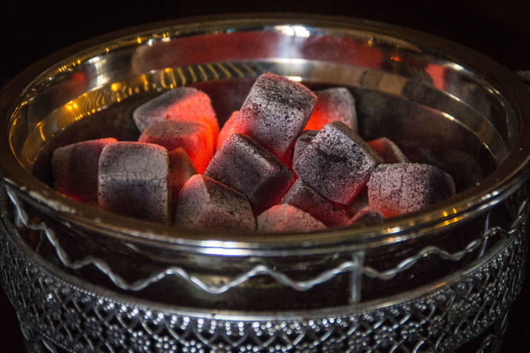Burning Coals Coals For Hookah Hookahlics Bad Habit Close-up Coal Container Fire Flame Indoors  Large Group Of Objects No People Still Life отдых