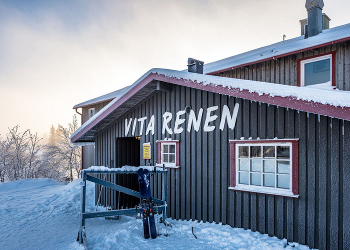 Vita Renen restaurant in the mountains Architecture Building Exterior Built Structure Cold Temperature Day House Nature No People Outdoors Sky Snow Tree Weather Winter