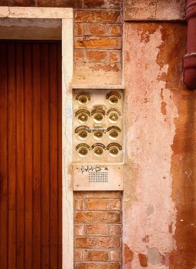 Venice doorbell Venice Venice, Italy Italy Doorbells Door Architectural Detail Details
