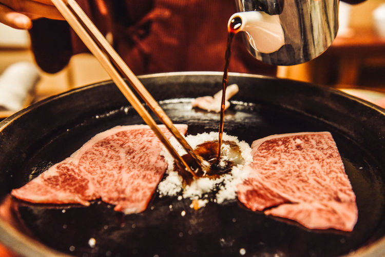 Close-up Cooking Food Freshness Japanese Food Kyoto Meat Michelin Star Red Meat Restaurant Sukiyaki Tranditional Travel Travel Photography Wagyu 京都 日本 Cooking Time Tasty