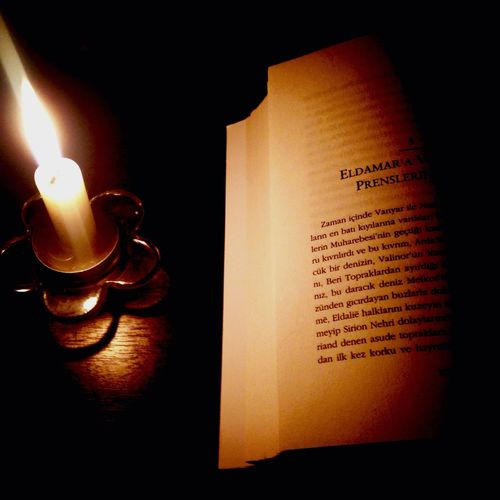 Darkness Reading Silmarillion Book Candle Light And Shadow