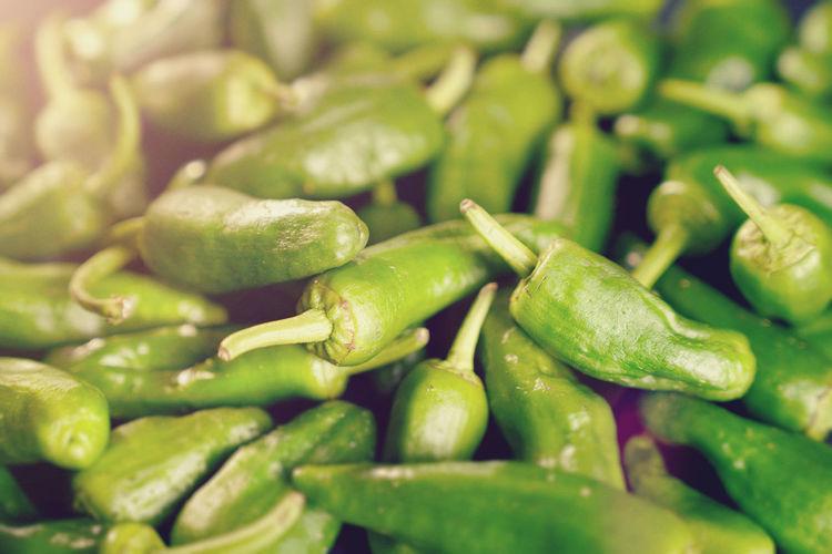 Full frame shot of jalapeno peppers