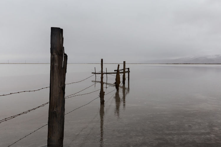 Fog Outdoors Horizon Over Water No People Utah Grantsville, Utah, USA Stansbury Island Gloomgrabber Bleak_life Moodygrams
