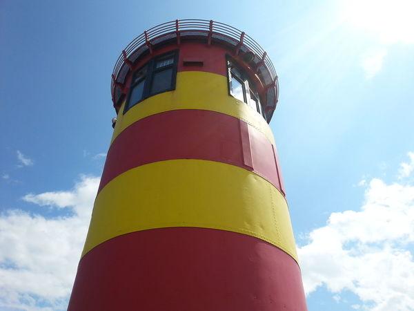 Pilsum Leben Genießen Leuchtturm Rot Gelb
