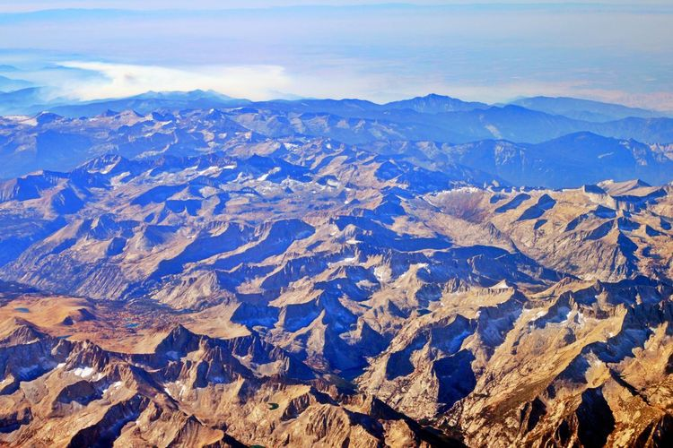 Scenics - Nature Mountain Landscape Environment Mountain Range Tranquility Physical Geography Geology Non-urban Scene Aerial View No People Formation Snowcapped Mountain Outdoors Nature Full Frame