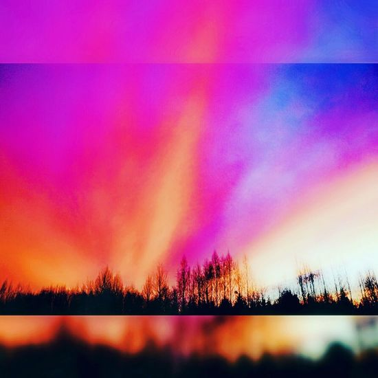 Spring Sunset Multi Colored Nature Day Sky Beauty In Nature Aurora Polaris Landscape No People Novopolotsk PolotskCity Polotsk Cloud - Sky Beauty In Nature Dramatic Sky Night Nature Red City Spring Springtime Spring Photography Spring Time Spring! Spring Colours springboard