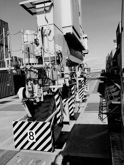 Crane Truck Monochrome Blackandwhite Truck EyeEm Container EyeEmBestPics Eye Em Around The World EyeEm Best Shots EyeEm Gallery Hello World