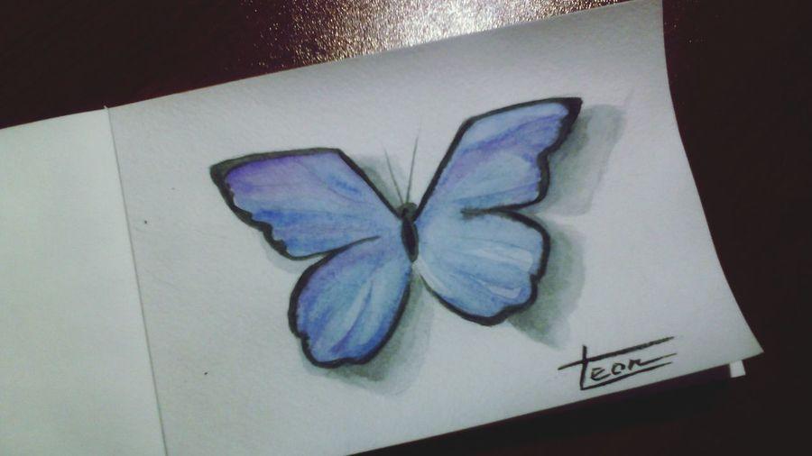 рисунок Art Butterfly бабочка мой рисунок акварель