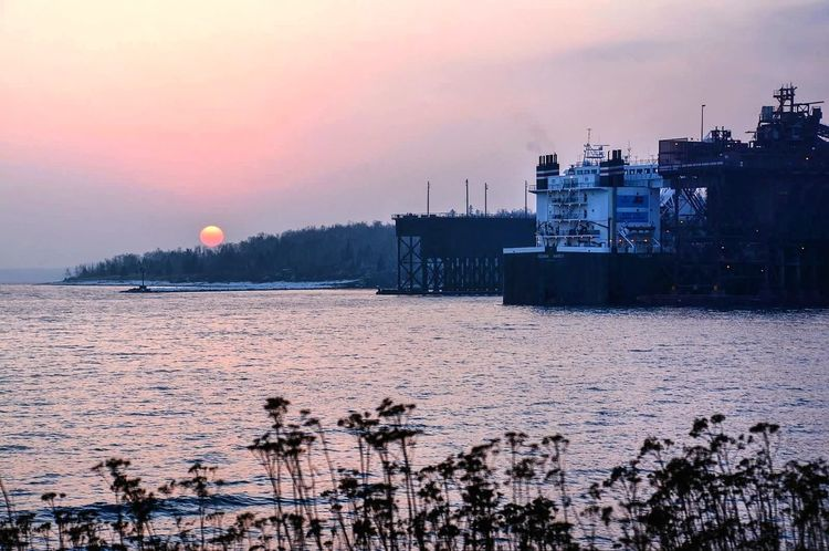 The Iron Ore Docks in Two Harbors, MN Popular Photos Sunset Silhouettes TheVille Nature_collection