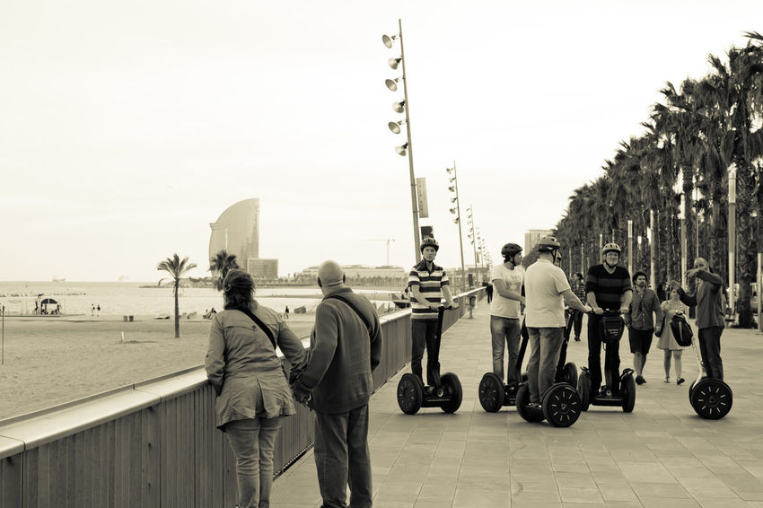 Barcelona Barceloneta Catalonia Catalunya Outdoor Embankment Excursion Lifestyles Occupation People People Watching Ramble Seafront SPAIN Spain♥ Togetherness Tour Tourism Tourist Attraction  Tourists Weekend Activities The Tourist Q Quay Quayside