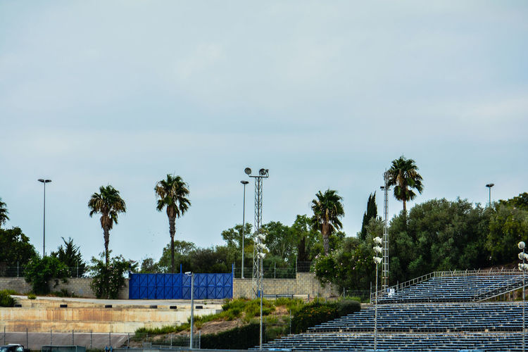 High angle of race track