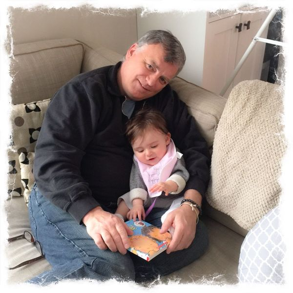 Story Time with my littlest buddy ❤️ Granddaughter Grandfather Gramps Storytelling Baby Girl Cutest IPhoneography