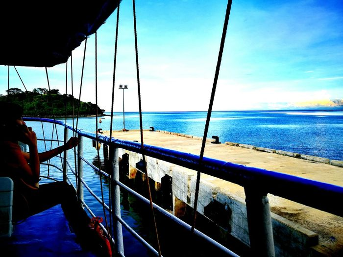 Sea Sky Outdoors Horizon Over Water People Nautical Vessel Beach Water Men Adults Only Adult One Person Boat Deck Day Young Adult One Man Only P9 Huawei P9photography P9leica Huwawei Clouds And Sky