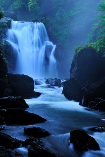 With plenty of natural negative ions, beautiful scenery and tranquil waterfalls, it is Wulai in Taiwan's new Taipei Cool Fresh Air Natural Negative Ions Wulai Beauty In Nature Blurred Motion Day Forest Long Exposure Motion Nature No People Outdoors River Rock - Object Scenics Tree Water Waterfall