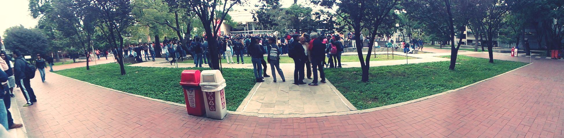 University assembly. No más muertos. Ayotzinapa vive. University Nosinfiltramosnoslevantamos Babylonfading People fighting
