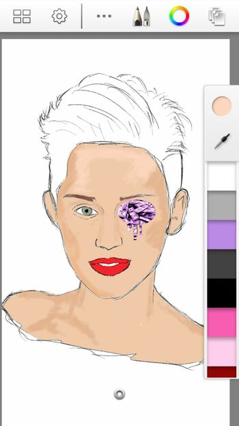 "-w-i-p-....""miley's wrack"" ™ just showing my process a lil. Finished piece coming soon!!! Sketchbookforgalaxy Androidart Popular Popart Kunst"
