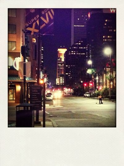 a beautiful night in my city during the superbowl
