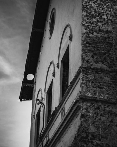 Architecture No People Built Structure Building Exterior Low Angle View Building Communication Arch Sign Day Sky Wall - Building Feature Nature Old Window Outdoors Religion Place Of Worship Wall Text Black And White EyeEm Best Shots EyeEmNewHere EyeEm Selects EyeEm Gallery Dark Mood Medieval Ruins Abandoned Abandoned Places Concept Conceptual Nikon D7500