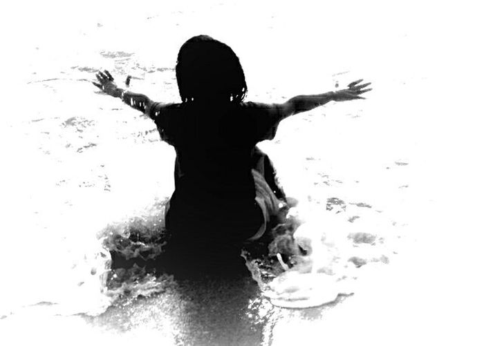 Happiness. Black And White Photography Beach Kids Summer
