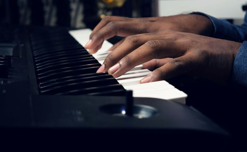 Music Piano Musical Instrument Human Hand Arts Culture And Entertainment Piano Key Musician Close-up One Person Pianist Playing Black Color Keyboard Instrument