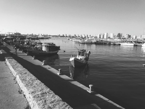 Shades Of Grey Puerto Punta Del Este Boats Sea