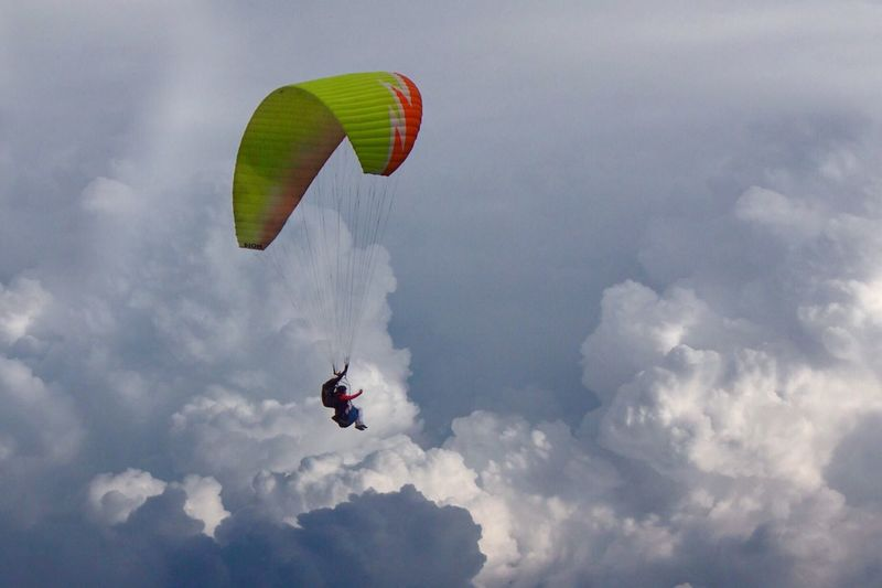 Flying Sky Clouds And Sky Clouds Adventure Paragliding Tranquil Scene Thecolorofsport The Color Of Sport The Color Of Sport By September 14 2016 Cloud Cloudy Cloud - Sky Colorful Travel Destinations Vacations Beauty In Nature Travel Photography Traveling Travel Tourism Tranquility Landscape Landscape_photography Landscape_Collection