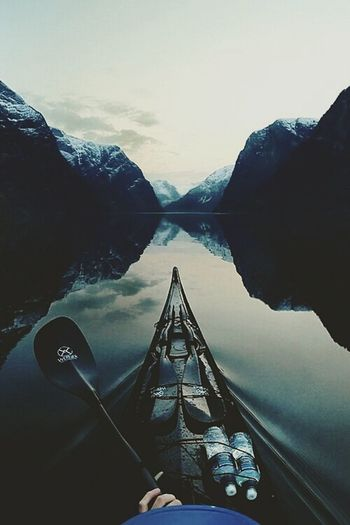 Canoe in the lake 🗻🗻🗻🗻🗻🗻🗻🗻Water Reflection Travel Destinations Mountain Landscape Lake Sunset Outdoors Adventure Day Sky Scenics Nautical Vessel Nature Photography Photography Themes Physical Geography Natural Arch National Geographic Tree Hunting Photooftheday Mountains And Sky Mountain_collection