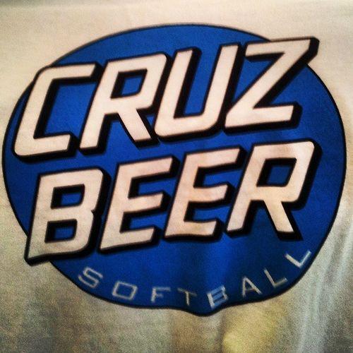 Cruzbeer Santacruz Softball Coedsoftball jersey shirt teeshirt