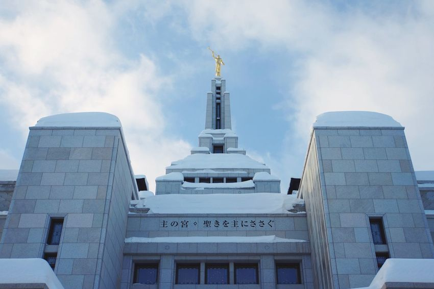 Sky And Clouds Architecture Built Structure Building Exterior Sky Low Angle View Travel Destinations Religious Architecture Temple Lds Temples EyeEm Best Shots Place Of Worship