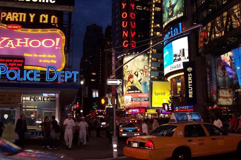 EyeEmNewHere New York City Taxi Marine Neons Night Yahoo First Eyeem Photo