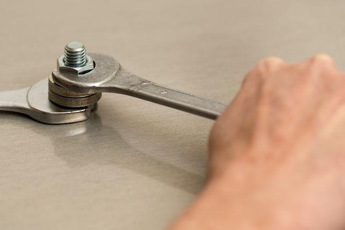 Open End Wrench Spanner Craft Handicraft Handicraft Work Handicrafts Human Hand Nut Occupation Profession Screw Screw Nut Screw Wrench Screw-wrench Spanners To Screw Trade Wrench  Wrenches
