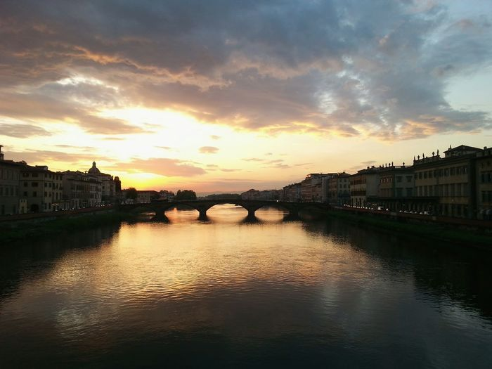 Firenze Florence Bridge Sunset_collection Sunset Holiday Helloitaly Italy Nofilter Noedit