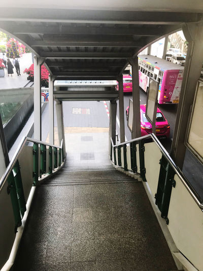 View of subway train