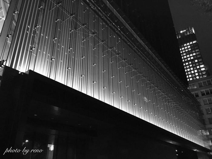 IPhoneography Monochrome Architecture Tokyo Night Streetphotography Wall Ootemachi