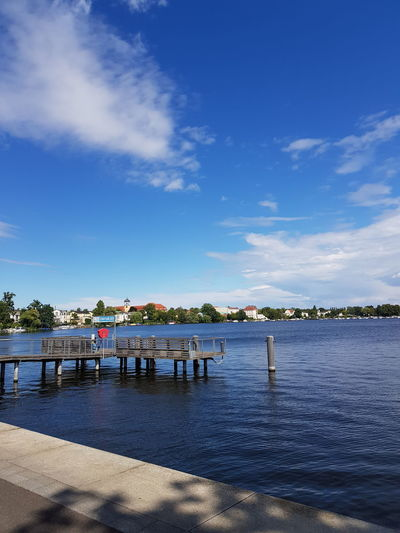 Potsdam Germany Today :) Purist No Edit No Filter EyeEm Nature Lover Samsungphotography Water Sea Summer Blue Sky Horizon Over Water Cloud - Sky Pier