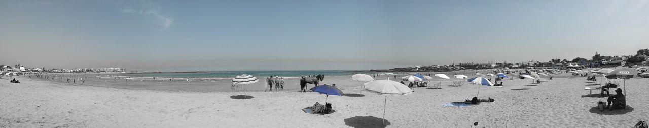 Panoramic View Of Public Beach