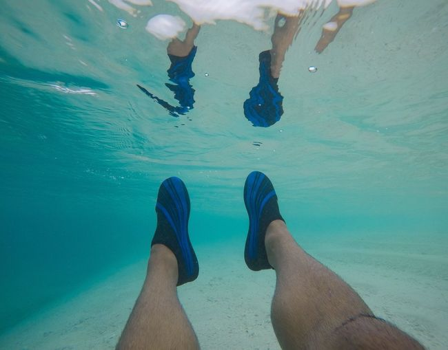 Low Section Human Leg Water Human Foot barefoot Real People Personal Perspective