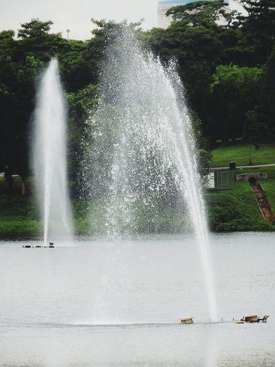 Spraying Water